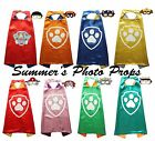 Paw Patrol Cape and Mask Party Favors Superhero Capes Costume Paw Logo Marshall