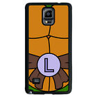 TMNT Ninja Turtles for Black Rubber TPU Samsung Galaxy Note 4 Phone Case