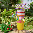 5pc Balcony Iron Hanging Flower Pot Baskets Garden Planter Home Party Decoration