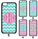 Custom PERSONALIZED Chevron MONOGRAM Teal Grey Pink Case Cover For iPod 6 5 4