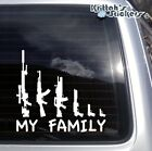 MY GUN FAMILY #1 Vinyl Decal rifle M16 AK47 shotgun automatic car sticker K394