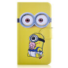 Hot Minions Despicable me Leather Flip Case Cover For iphone #36