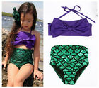 Little Mermaid Bikini Costume Enfants Filles Maillots de Bain Swimsuit 2-9 ans