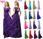 Sex back Long Maxi Evening Bridesmaid Formal Party Prom Dress UK 8-24