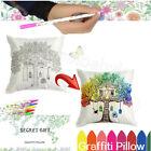 "18"" Secret Gift DIY Graffiti Hand Painting Sofa letter Pillow Case Cushion Cover"