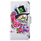 Hot Flower Hat Skull PU Leather New Flip Case Cover For LG Google