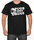 PUGS NOT DRUGS funny dog owner T-Shirt comic pup