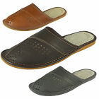 Mens Genuine Leather Slippers Shoes Mules, Hand Made, Various Colours Size 6-13