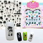 Pretty Coconut Tree Water Decals Summer Style Transfer Sticker Anchors Nail Art1