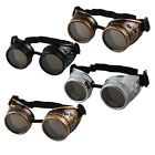 Vintage Victorian Steampunk Goggles Glasses Welding Cyber Punk Gothic Cosplay HF