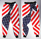 2016 USA American Flag Jogger Pants Star Gym Track Sweat Trousers Sports Dance