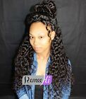 beauty water wave curly 100% India remy human hair full/front lace wig baby hair