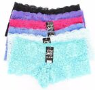 Lot of 12 New Women's Solid Mixed Color Randomly Quality Lace Panties Underwear