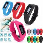 Run Step Walking Distance Digital LCD Pedometer Calorie Counter Watch Womens