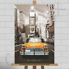 New York City NYC Vintage Taxi Cab Large Framed Canvas Print Picture Poster Car