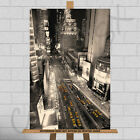 New York City NYC Yellow Taxi Cab Large Framed Canvas Print Picture Poster Car