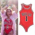 NEW Beyonce Sexy Bulls 1 Basketball High Cut Monokini Swimsuit Jumpsuit Bodysuit