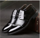 2016 Hot Mens Fashion England Shiny Lace Up Pointy Toe Business Casual Shoes