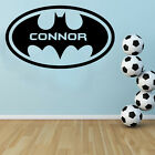 Personalised - Batman Free Squeegee! Wall Art Decal / Childrens Bed Room Sticker