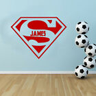 Personalised - Superman Free Squeegee! Wall Art Decal Childrens BedRoom Sticker