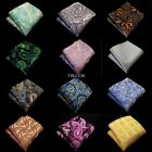 "NEW Man 10"" Handkerchief  Paisley Floral Pocket Square Wedding Party Hanky"