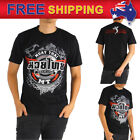 AU New Men T-shirt Muay Thai Boxing MMA Training Tee Classic T47 Black Size S-XL