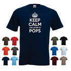 'Keep Calm and Listen to Pops' - Dad Father's Day Grandpa Birthday Funny tshirt