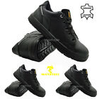 MENS LEATHER STEEL TOE CAP SAFETY BOOTS LADIES WORK TRAINERS HIKING SHOES SIZES