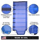 Side Roll Tarp with Tail Flap for End Dump Trailer Bed - 13oz Open Mesh