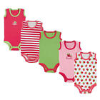 Luvable Friends Girls 5 Pack Red/White/Green/Pink Assorted Strawberry Theme