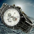 Hot Men Black Leather Band Date Automatic Mechanical Stainless Steel Wrist Watch