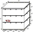 8'x8'x2' Fitted Nose Smoke Tarp for Flatbed Truck Trailer