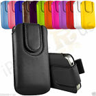Magnetic Button Pull Tab Leather Pouch Case For Samsung Galaxy Ace Plus S7500