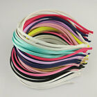 5PCS DIY Women Kids Girl's 5MM Colored Satin Covered Headband Metal Hairband