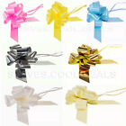 LUXURY 50MM FLORIST EASY PULL BOWS WEDDING CAR PARTY PEW ENDs RIBBON XMAS GIFT