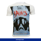 Men's Jaws Movie Inspired Poster Teeth Fitted or Classic T-shirt