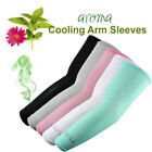 1 Pair Perfume Cooling Compression Sports Arm Sleeves w/ 99% UV Protection
