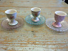 GreenGate Glass Abelone Saucer in Choice of Pale Pink, Pale Blue or Clear
