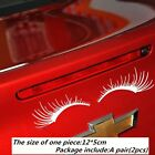 New A Pair of Auto Car Lashes Auto Logo Eyelashes Stickers Decor Accessories