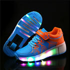 Girls Boys LED Light Shoes With Wheels Roller Skate Shoes Heelys Kids Sneakers