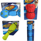 Nerf Dog Ball Toy range Rubber LED squeak crunch teether exercise play pet stick