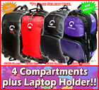 backpack multi compartment durable schoolbag fashion bag red black #305 #306