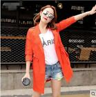 Women's Thin Coat Waisted Sun Protection Tailor Collar Seven Sleeves Outwear Hot