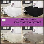 100% Egyptian Cotton Fitted Sheets 200 Thread Count Sheet SINGLE Double King SK