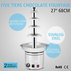"""27"""" 5 TIERS CHOCOLATE FOUNTAIN STAINLESS STEEL WEDDING GIFT PARTY HOTEL PRO"""