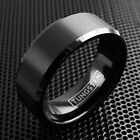 Black Tungsten Wedding Band Ring Men's & Women's Engraving Available 6mm or 8mm