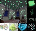 100pcs 3D Stars Glow In The Dark Luminous Fluorescent Wall Stickers Kids Bedroom