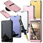 Luxury Mirror Smart Clear View Flip Hard Back Case Cover For Mobile Phones