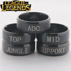 League of Legends TOP MID SUPPORT JUNGLE ADC Position Stainless Steel Band Ring