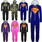 Kids Boys Girls Superman Batman Playsuit All In One Piece Onesie Jumpsuit 7 13